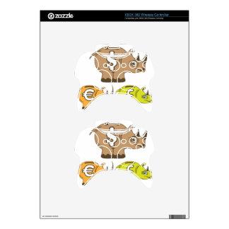 Rhino Piggy Bank vector Xbox 360 Controller Skin