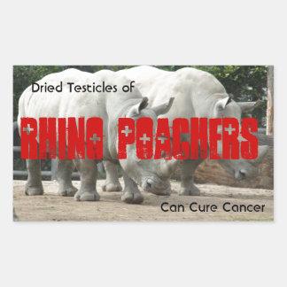 Rhino Poachers Rectangle Stickers