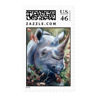 Rhino Postage Stamp stamp