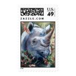 Rhino Postage Stamp