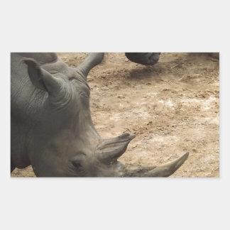 Rhino Rectangular Sticker
