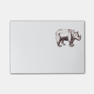 Rhino - Renaissance Style Drawing of a Rhinoceros Post-it® Notes