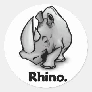 Rhino Rhino. Classic Round Sticker