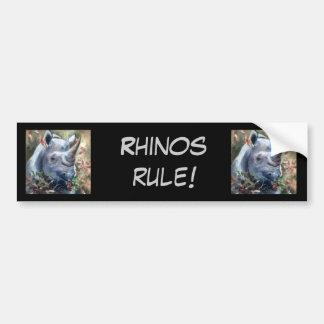Rhino, Rhino, Rhinosrule Bumper Sticker