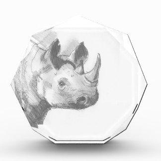 Rhino Rhinoceros Pencil Drawing sketch Award
