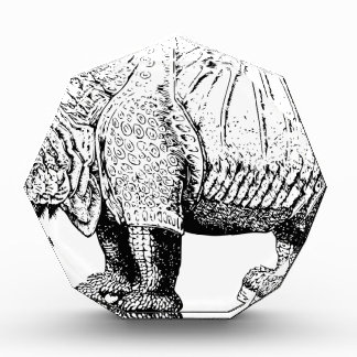 Rhino Rhinoceroses animal Africa safari nature Acrylic Award