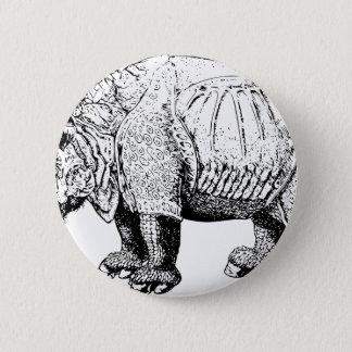 Rhino Rhinoceroses animal Africa safari nature Pinback Button