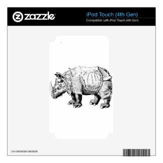 Rhino Rhinoceroses animal Africa safari nature Skins For iPod Touch 4G
