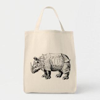 Rhino Rhinoceroses animal Africa safari nature Tote Bag