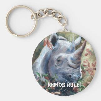 Rhino, Rhinos rule! Keychain