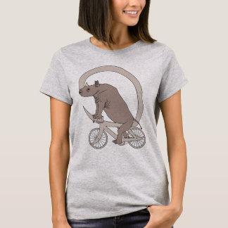 Rhino Riding With Its Horn Bike T-Shirt