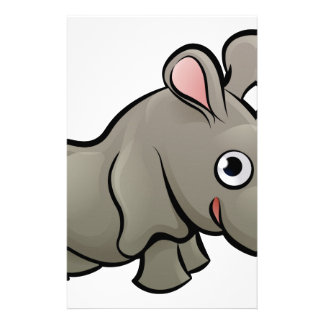 Rhino Safari Animals Cartoon Character Stationery