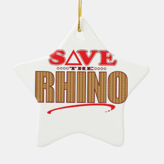 Rhino Save Ceramic Ornament