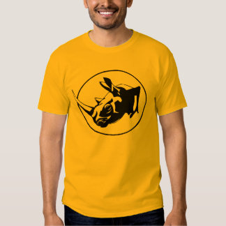 Rhino silhouette design tee shirt