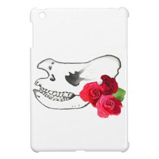 Rhino Skull with Roses iPad Mini Cases