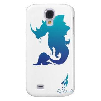 Rhino-Stego-Fish (Water Color Scheme) Galaxy S4 Cases