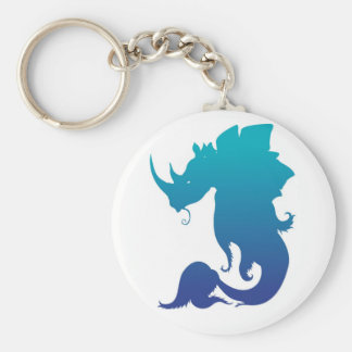 Rhino-Stego-Fish (Water Color Scheme) Keychain