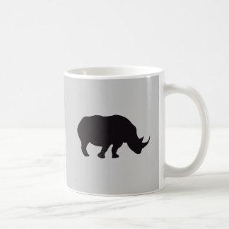 Rhino Vintage Wood Engraving Coffee Mug