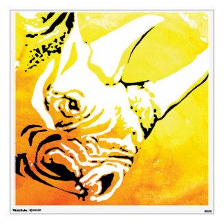 Rhino Wall Art Wall Decal