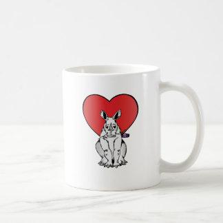 Rhino with Valentine's day heart Coffee Mug