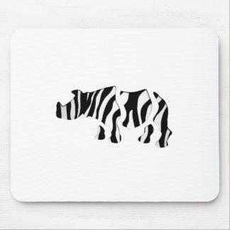 rhino zebra: Wild Mash-Up Mouse Pad