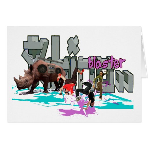 rhinoblaster greeting card