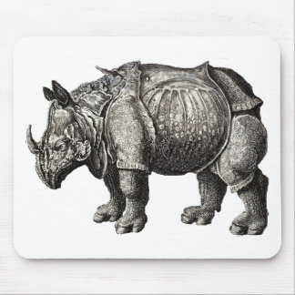 RHINOCEROS  - 1600's Image - Mouse Pad