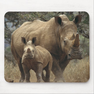 Rhinoceros and Calf Mouse Pad