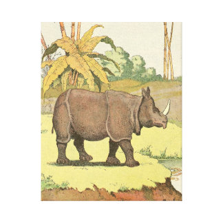 Rhinoceros at the Watering Hole Canvas Print