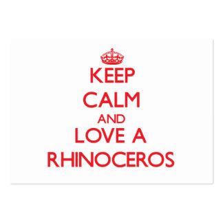 Rhinoceros Business Card Template