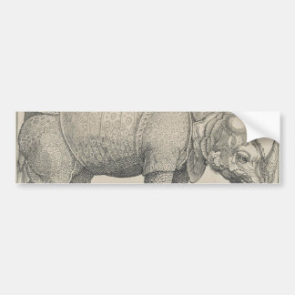 Rhinoceros by Albrecht Durer Bumper Sticker