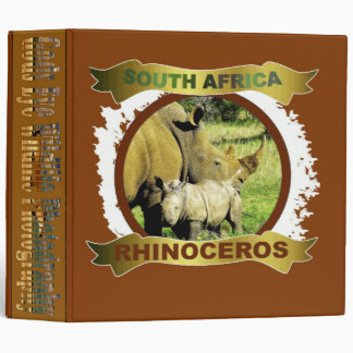 Rhinoceros calf and mother Binder
