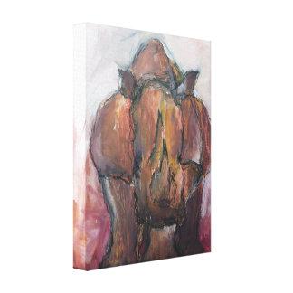 Rhinoceros. Canvas Print