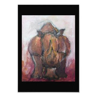 Rhinoceros. Card