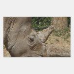 Rhinoceros - Ceratotherium simum simum Rectangular Sticker