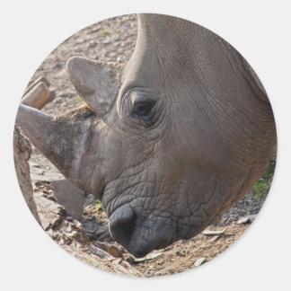Rhinoceros Classic Round Sticker