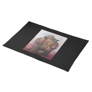 Rhinoceros. Cloth Placemat