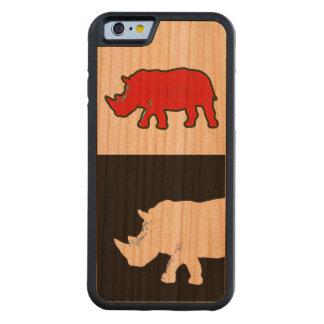 rhinoceros cool & modern carved® cherry iPhone 6 bumper
