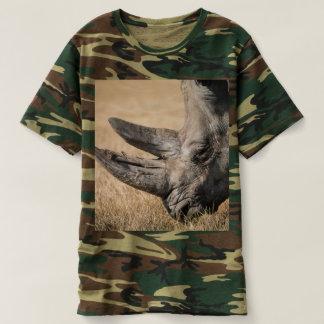 Rhinoceros custom personalize player sport camo t-shirt