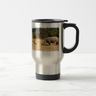 Rhinoceros Family Stainless Travel Mug