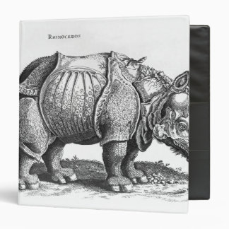 Rhinoceros, from 'Historia Animalium' 3 Ring Binder
