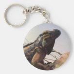 Rhinoceros Iguana Keychain