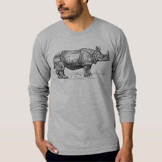 Rhinoceros Illustration T-Shirt
