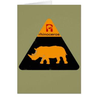 rhinoceros label card