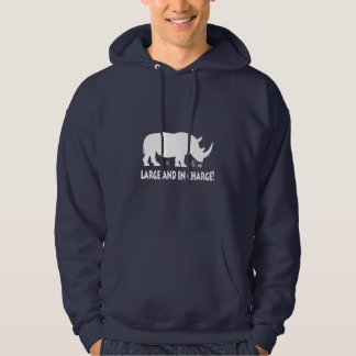 Rhinoceros Large and in Charge Hoodie
