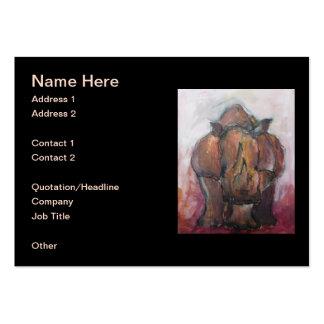 Rhinoceros. Large Business Card