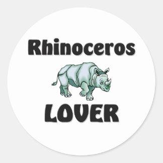 Rhinoceros Lover Round Stickers