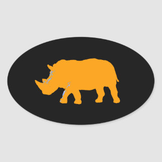 Rhinoceros Oval Sticker
