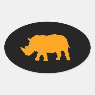 Rhinoceros Oval Sticker