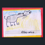"Rhinoceros Photo Print<br><div class=""desc"">I did this in first grade. I used crayons. The rhinoceros is roaring.</div>"